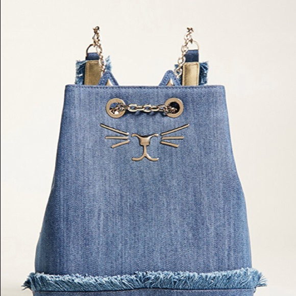 petite Feline backpack - Blue Charlotte Olympia Perfect Discount With Paypal Best Cheap Price U5cXbPTCc